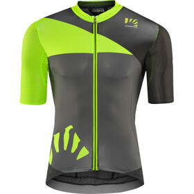 Karpos Verve Jersey Heren, green fluo/dark grey